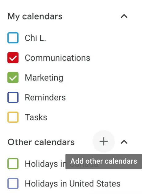 ایجاد جندین تقویم در تقویم گوگل