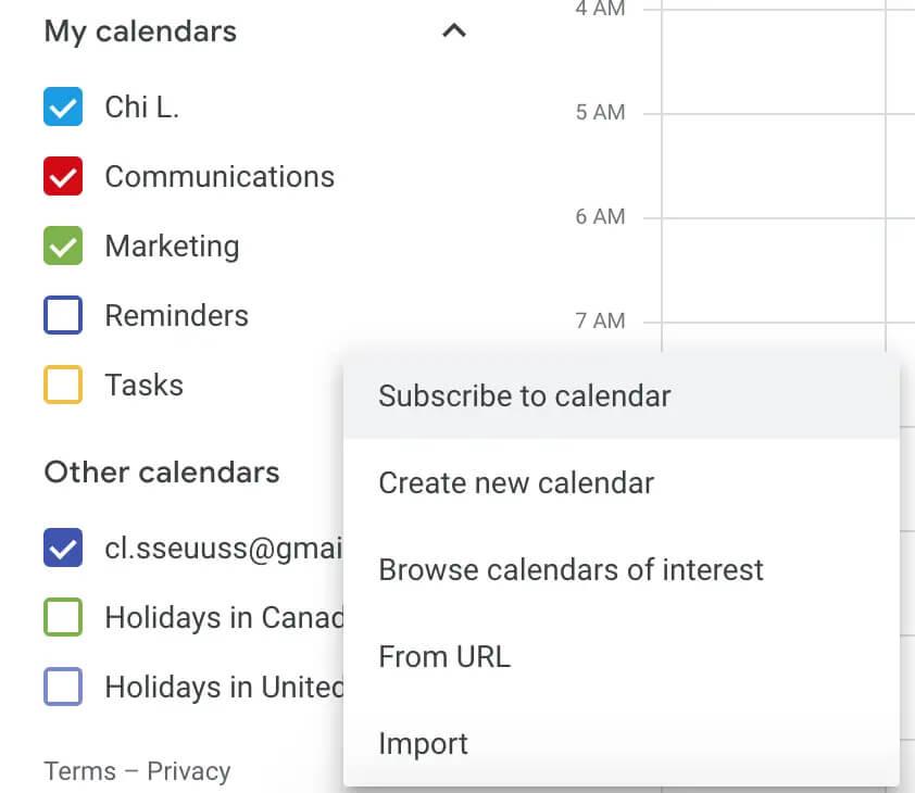 افزودن تقویم های دیگر در تقویم گوگل
