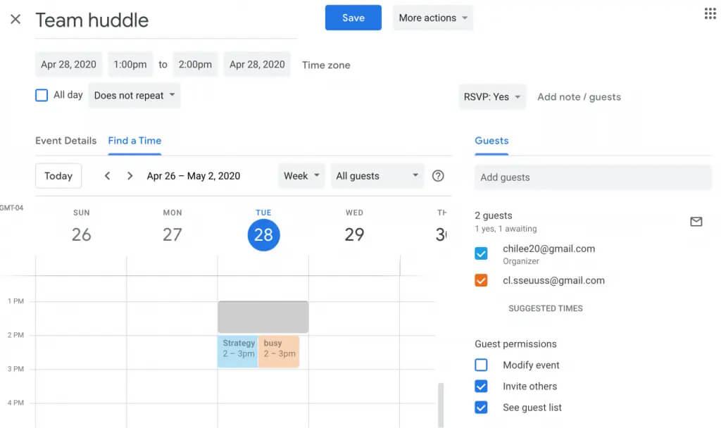 مدیریت جلسات با تقویم گوگل
